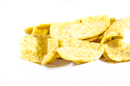 This article is about the small, salty chips like Fritos. Imagens - 100483422