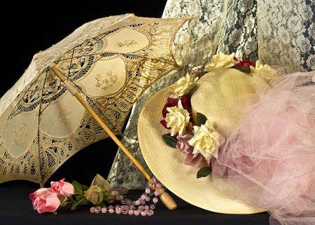era: Victorian arrangement with parasol