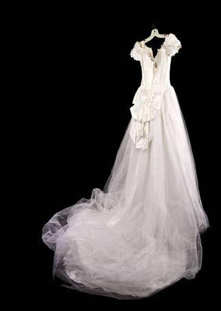 bridal dress: Hanging abito da sposa Archivio Fotografico