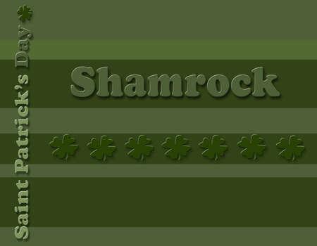 saint patty's: Shamrock Print Stock Photo