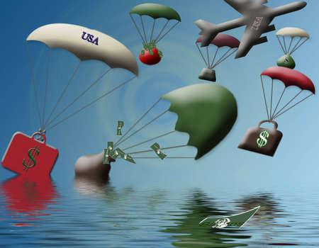 Failed Bailout sinking fast Stok Fotoğraf