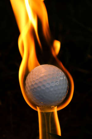 Concept of golfing game on fire - hole in one - ACE photo