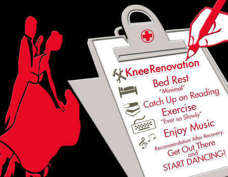 Knee Replacement Illustration