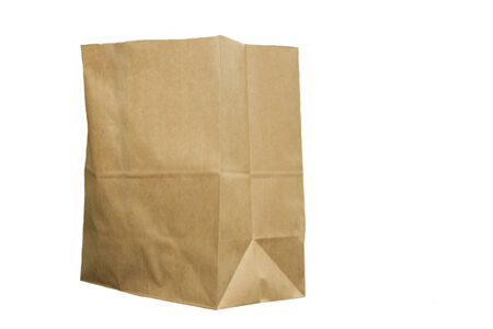 Brown isolated paper bag