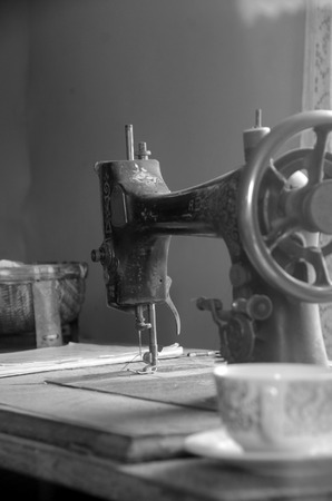 old photo: Old sewing machine