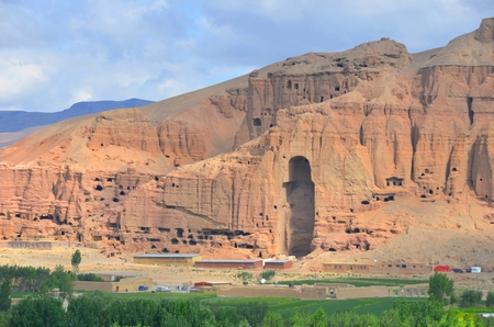 Site of the giant buddha in Afghanistan