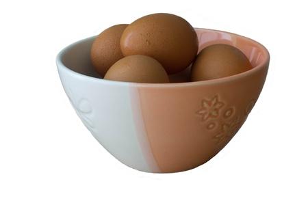 duo tone: Eggs in the duo tone bowl Stock Photo