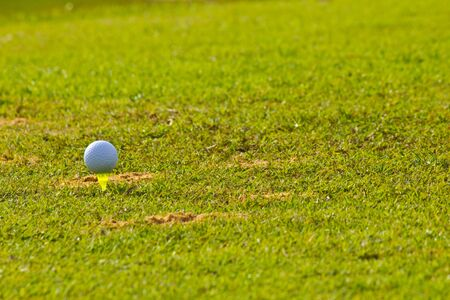 t off: golf ball prepare to t off