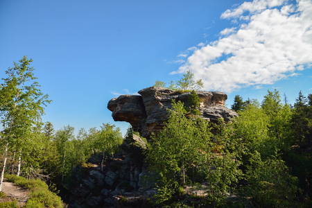 intresting: Big rock with intresting shape , Ural, Stone City
