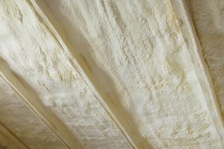 Polyurea Spraying, foam coating insulation of roof.