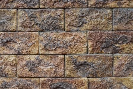 装飾的な石壁模様暗自然色 写真素材