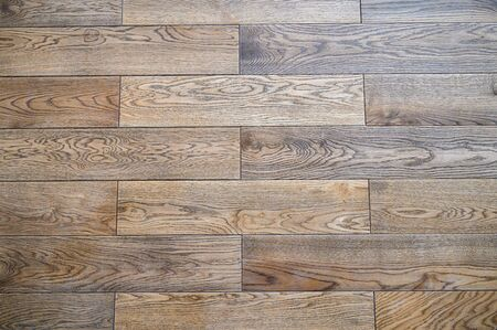 Seamless oak parquet pattern , natural flooring of rich brown color Imagens