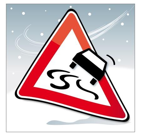 snow road: Caution skidding
