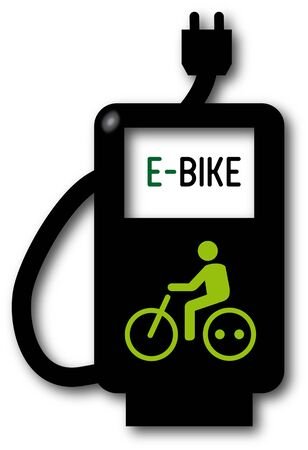 bicycling: battery-charging station