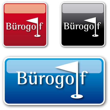 Golf Office Button Stock Vector - 16624815