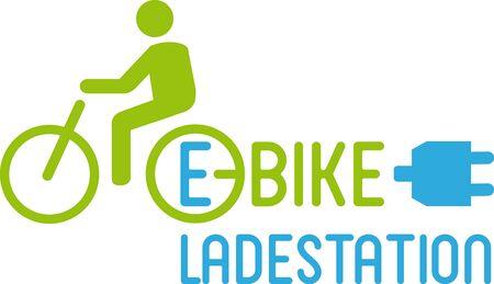 bicycling: E-Bike charging point