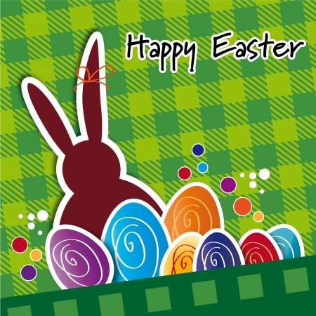 ligne: Greeting Card Happy Easter