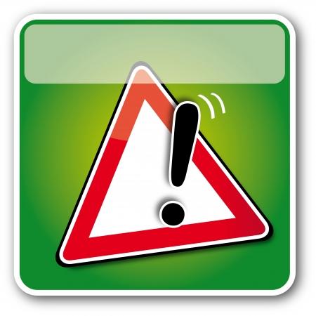 Caution  Button Stock Vector - 16624803