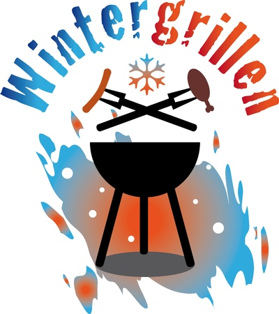Winter BBQ Vector