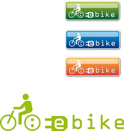 bicycle pedal: electric bicycle Logo