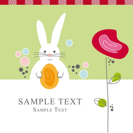 Greeting Card Osterhase Vector