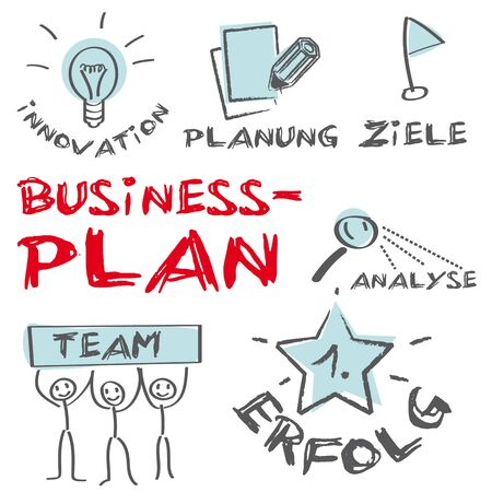 Business Plan Concept Building a Business Stock Vector - 16755659