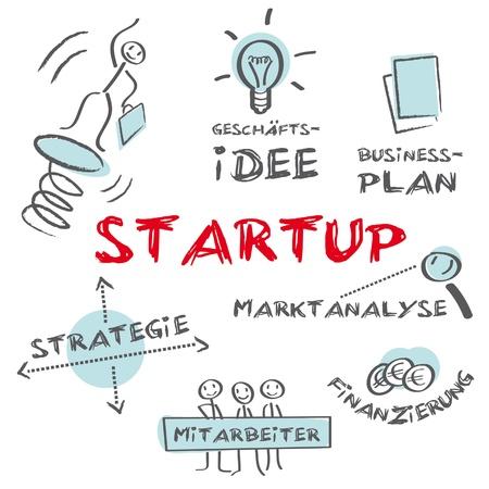La création d'entreprises de démarrage - démarrage de création d'entreprise entreprise Vecteurs