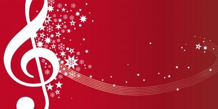 christmas music: Gutschein Konzertgutschein rot