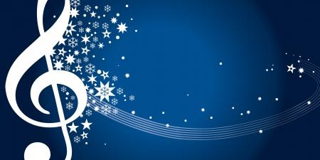 christmas music: Gutschein Konzertgutschein blau