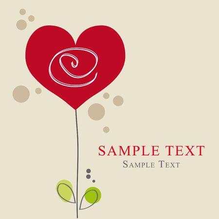 Greeting card heart, Liebe Stock Vector - 16808929