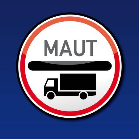 fcc: Mautstelle Verkehrsschild