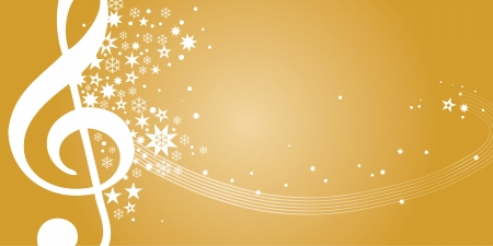 Gutschein, Konzertgutschein, Gold Illustration