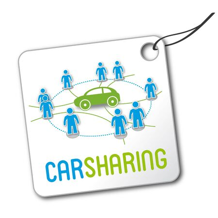 Carsharing, Autoteilen, Statdteilauto, Symbol Royalty Free Cliparts ...