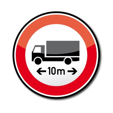 slow down: Road sign ban on cars and trains over the specified length - 266 road signs to Highway Code