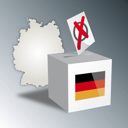 voting rights: Germany chooses election, Bundestagswahl Illustration