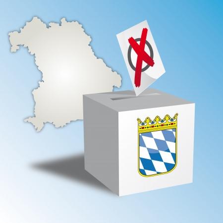 Freistaat Bayern Stimmzettel Standard-Bild - 17915972