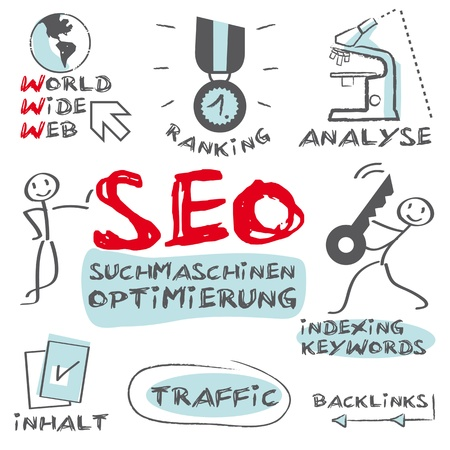 SEO search engine optimization, Illustration