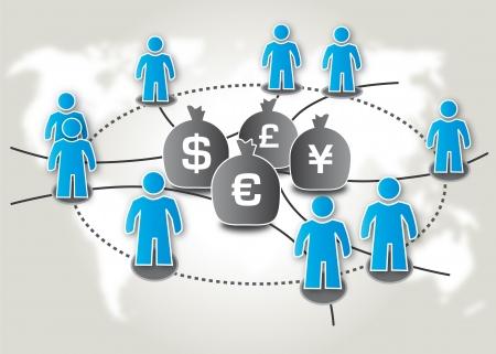 Crowdfunding, Schwarmfinanzierung, Investieren Stock Vector - 18403570