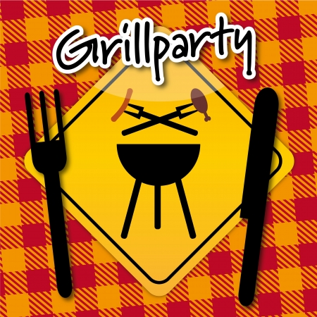 winter grilling: Grillparty Einladung