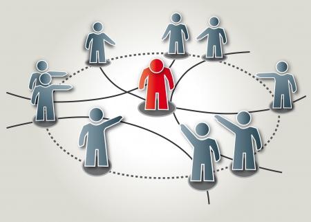 Mobbing, cybermobbing, símbolo Ilustración de vector