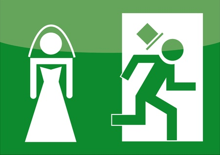 ex: Hochzeit, Flucht,  Junggeselle