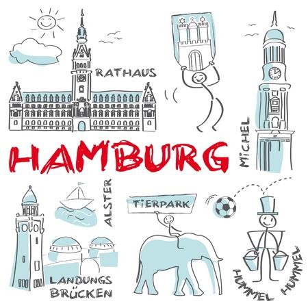 Hamburg, Hansestadt, Bundesland Stock Vector - 19684002