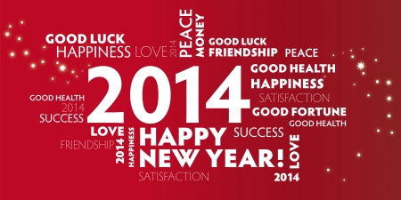 2014, happy new year, best wishes, frohes neues jahr Vector