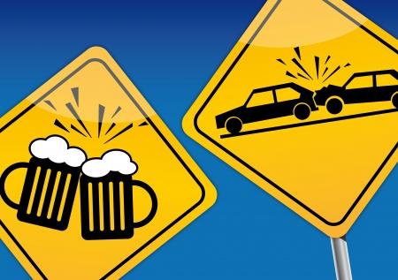 Drinken en rijden Stock Illustratie