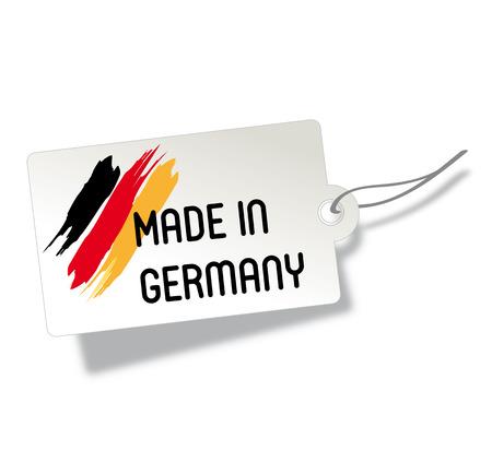 сделанный: Этикетка производства германии Иллюстрация