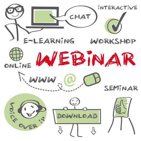 workshop seminar: webinar Illustration