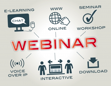 knowledgeable: webinar, icons Illustration