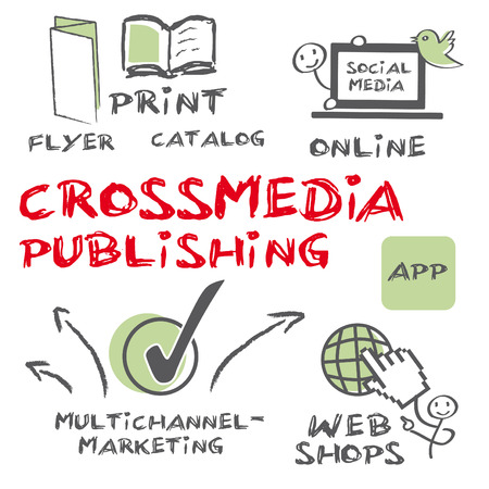 Crossmedia publishing Illustration