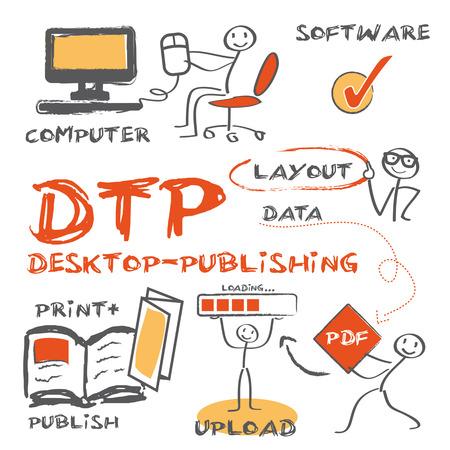 dtp、デスクトップ ・ パブリッシング  イラスト・ベクター素材