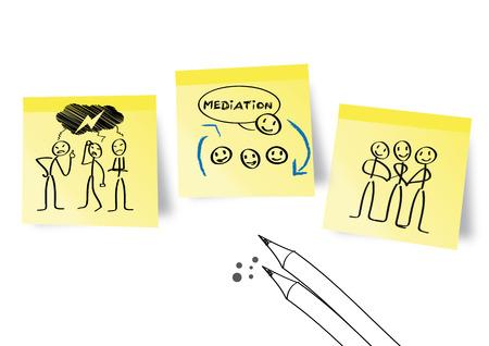 調停、競合の管理  イラスト・ベクター素材